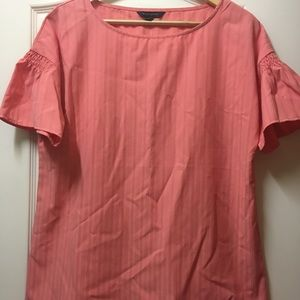 NWT Coral Banana Republic flutter sleeve blouse